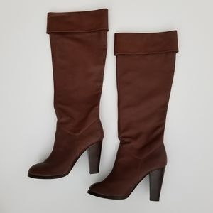 COLIN STUART Brown Knee High Leather Boots